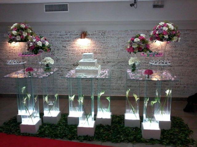 Aluguel de mesa de vidro para festa de casamento