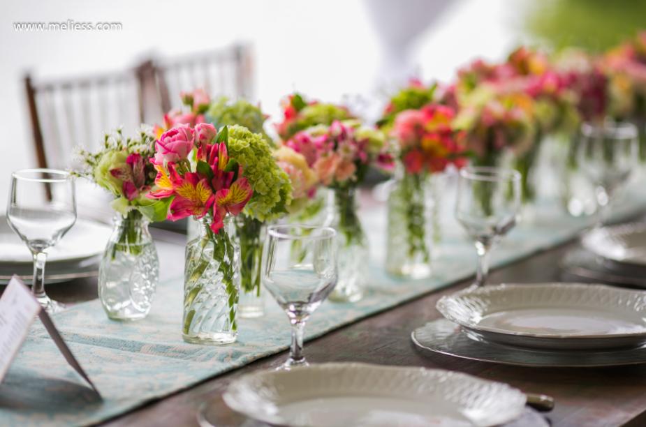 decoração para casamento com flores