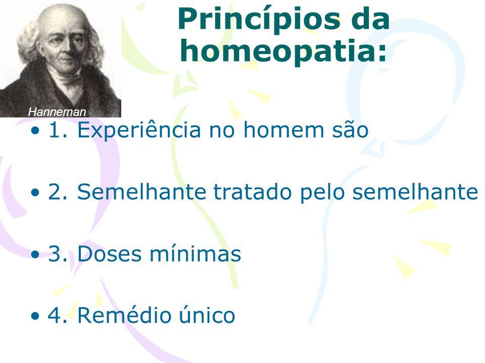Princípios da homeopatia
